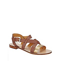 Phase Eight - Tan Lucie Leather Sandals