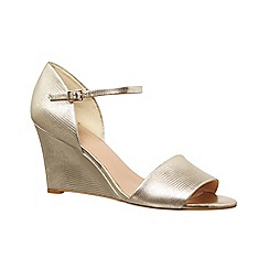 Phase Eight - Metallic leather wedge