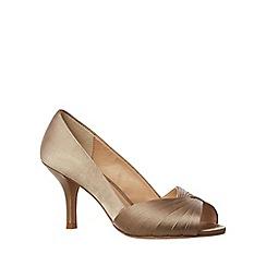 Phase Eight - Brown Sammy Satin Peep Toe Shoes