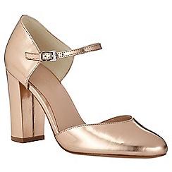 Phase Eight - Metallic Leather Block Heel