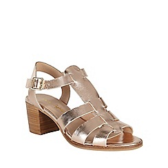 Phase Eight - Rose gold metallic leather sandals