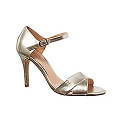 Phase Eight - Silver adelia heeled leather sandals