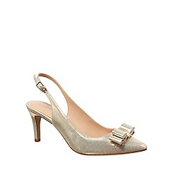 Phase Eight - Champagne lotty leather court shoes
