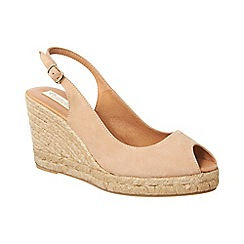 Phase Eight - Suede sling back wedge espadrille