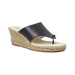 Phase Eight - Leather mini wedge sandal