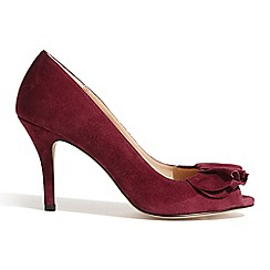 Phase Eight - Magenta emmy suede peep toe shoes