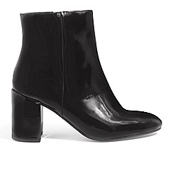 Phase Eight - Black Phoebe patent leather ankle boots