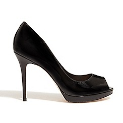 Phase Eight - Black poppy patent leather high heel shoes
