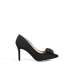 Phase Eight - Black sasha suede sparkle rose court shoes