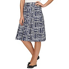 Phase Eight - Navy/Ivory angela print skirt