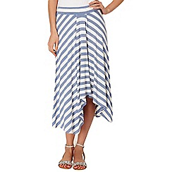 Phase Eight - Denim and Ivory sian striped midi skirt