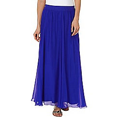 Phase Eight - Periwinkle iona silk maxi skirt