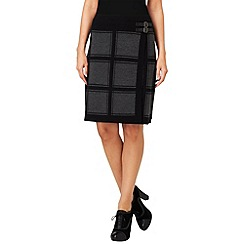 Phase Eight - Grey and Black cassidy check skirt