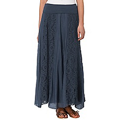 Phase Eight - Navy annette lace maxi skirt