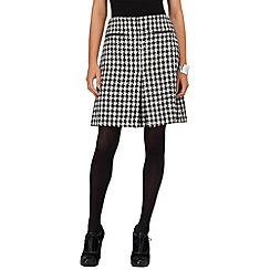 Phase Eight - Black and ivory samina dogtooth skirt