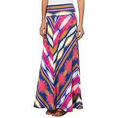 Phase Eight - Multi-coloured clemance print maxi skirt