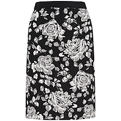 Phase Eight - Black and Stone marcie floral skirt