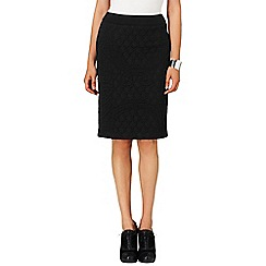 Phase Eight - Black rhian textured pencil skirt