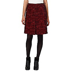 Phase Eight - Red and Black betty jacquard skirt