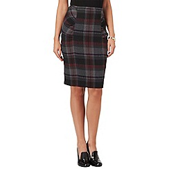 Phase Eight - Grey and fuchsia michelle tartan skirt