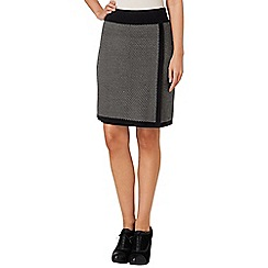 Phase Eight - Black and Stone juliana jacquard spot skirt