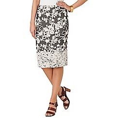 Phase Eight - Charcoal elspeth Jacquard Skirt