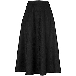 Phase Eight - Black bonded lace skirt