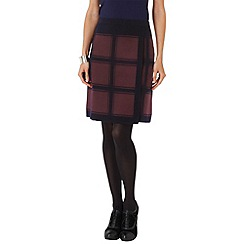 Phase Eight - Navy and Wine kirstie check skirt
