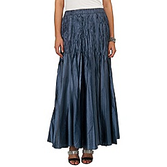 Phase Eight - Midnight pleated maxi skirt