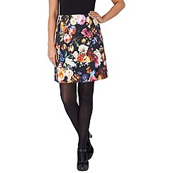 Phase Eight - Black and Multi-Coloured talia floral skirt