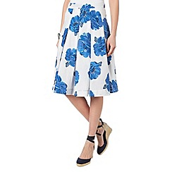 Phase Eight - Iona Floral Print Cotton Skirt