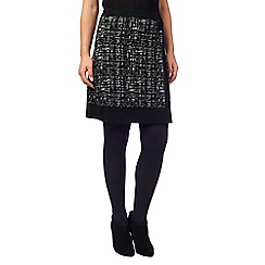 Phase Eight - Black joselyn wrap knit skirt