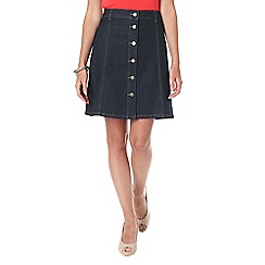 Phase Eight - Bea button denim skirt