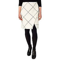 Phase Eight - Ginette check wrap detail skirt