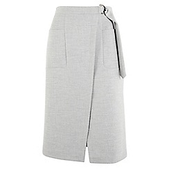 Phase Eight - Grey Amber D-Ring Skirt