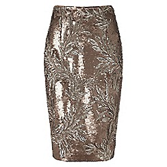 Phase Eight - Bronze nasia sequin skirt