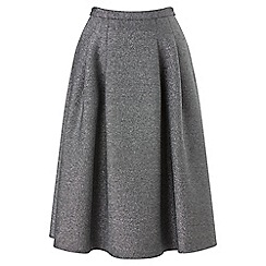 Phase Eight - Silver shimmer scuba skirt