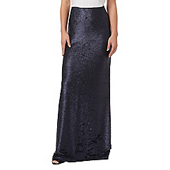 Phase Eight - Midnight sequin shimmer maxi skirt