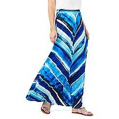 Phase Eight - Painterly Stripe Maxi Skirt