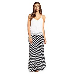 Phase Eight - Chevron Stripe Maxi Skirt