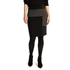 Phase Eight - Black Cassidy colour block knitted skirt