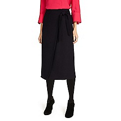 Phase Eight - Black Emeraude cross front skirt
