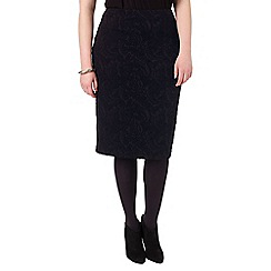 Studio 8 - Sizes 16-24 Black mona textured skirt