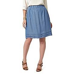 Studio 8 - Sizes 12-26 Blue tina skirt
