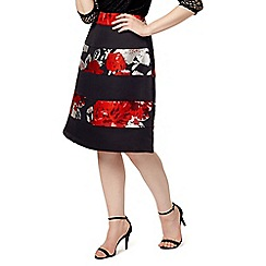 Studio 8 - Sizes 12-26 Red and Black agnese skirt