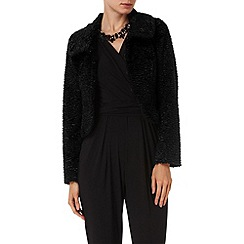 Phase Eight - Black abbie astrakhan jacket