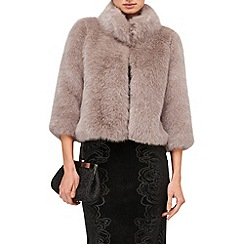 Phase Eight - Champagne ophelia faux fur jacket