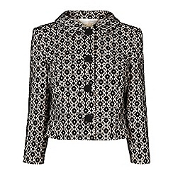 Phase Eight - Black and nude verina bonded lace jacket