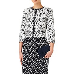 Phase Eight - Navy and cream marcella spot jacket
