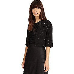 Phase Eight - Black stephanie embellished jacket